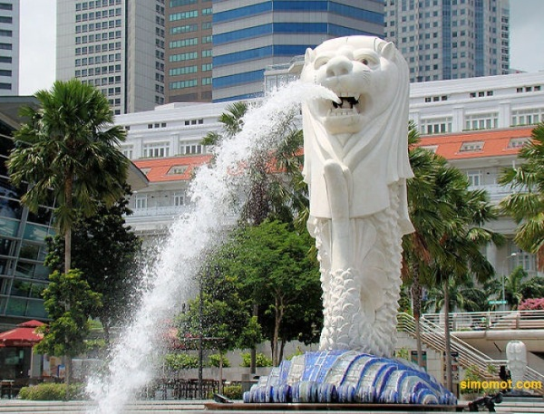 Air Mancur Merlion, Singapura