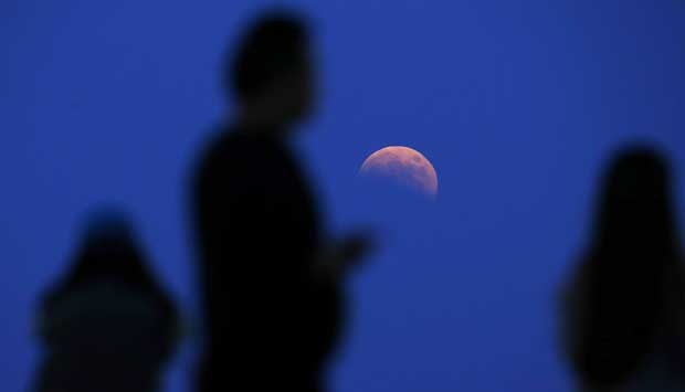 Gerhana Bulan Merah Total China
