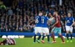 Hasil pertandingan Liga Inggris 2014, antara Everton vs West HamUnited