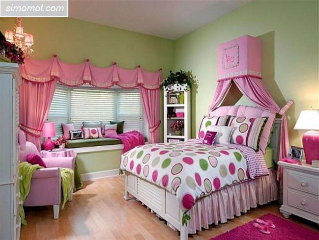 desain kamar tidur anak ukuran kecil 16 si momot