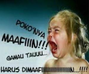 Status Fb Gokil Lucu Pokoknya Harus Maafin Si Momot