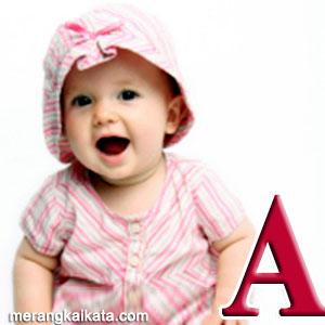 Rangkaian nama bayi unik, awalan huruf A