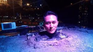 Illusionist Indonesia Demian Aditya, saat ditemui ketika tengah di Semen, di depan Pelataran FX Sudirman, Senayan, Jakarta Pusat, Sabtu (23/5/2015) sore. (Tribunnews)
