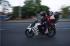 Pemudik yang menggunakan sepeda motor melintas didaerah Lemahabang Wadas, Karawang, Jawa Barat, Senin (13/7). Pemudik sepeda motor yang melalui Karawang diarahkan melalui jalur khusus sepeda motor melewati jalur Pantura Karawang (Lamaran-Telagasari-Krasak-Cikalong) untuk mengurai volume kendaraan di Cikampek. ANTARA FOTO/Hafidz Mubarak A.