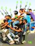 14 Orang naik satu motor rame-rame.